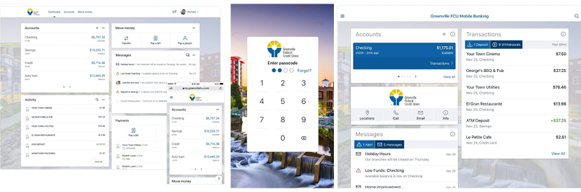 image Image of Online and Mobile Banking Screens